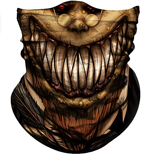 Obacle Skull Face Mask Sun Dust Wind Protection, 3D Tube Mask Seamless Durable Face Mask Bandana Headwear Skeleton Face Mask Motorcycle Bike Riding Fishing Hunting Cycling Festival Skull Brown ()