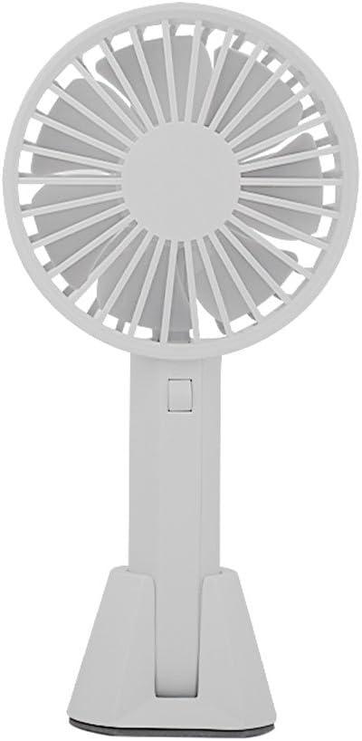 Color : White Outdoor Travel Home Mini Fan Desk Table Fans Rechargeable Student Dormitory USB Portable Handheld Portable Office Desktop Mute Mini Fan Portable Cooling Fans Mini Fan