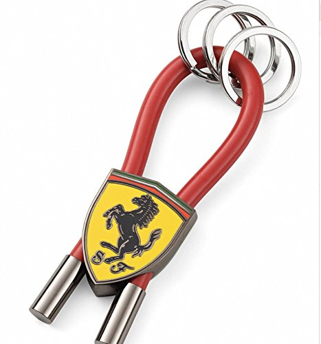 ferrari-red-shield-rubber-strap-keychain-with-metal-scudetto