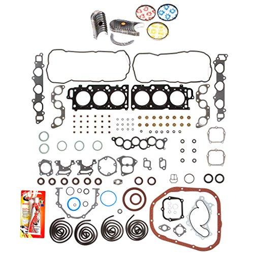 (Domestic Gaskets Engine Rering Kit FSBRR2044EVE\0\0\0 Fits 99-03 Lexus Toyota 3.0 DOHC 1MZFE Full Gasket Set, Standard Size Main Rod Bearings, Standard Size Piston Rings)