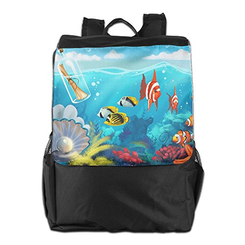 HSVCUY Personalized Outdoors Backpack,Travel/Camping/School-Underwater Sea World Adjustable Shoulder Strap Storage Dayback For Women And Men
