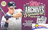 #9: 2018 Topps Archives Signature Series Players Edition Baseball Factory Sealed HOBBY BOX with Encased AUTOGRAPH Numbered Buyback! Look for SIGNED ON-CARD Autographs of Mike Trout, Aaron Judge & More!