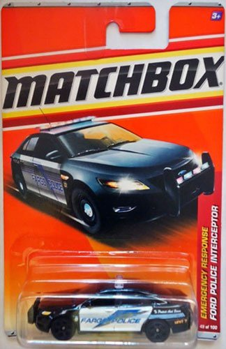 Matchbox 2011 Emergency Response Ford Taurus Police Interceptor FARGO - Taurus Ford Police Car