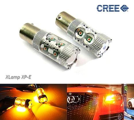 Luffy PY21W BAU15s - 2 bombillas LED para intermitentes de coche, Cree, color ámbar: Amazon.es: Coche y moto