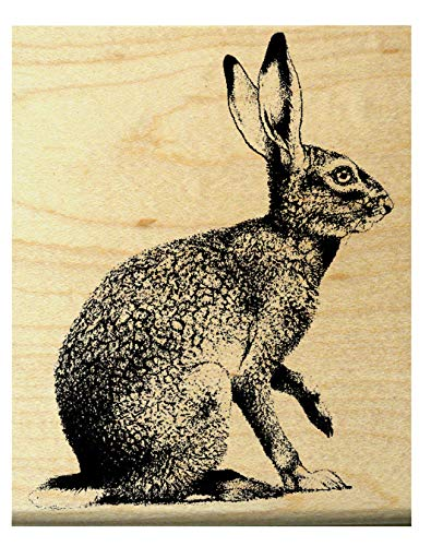 (Hare, rabbit rubber stamp WM)