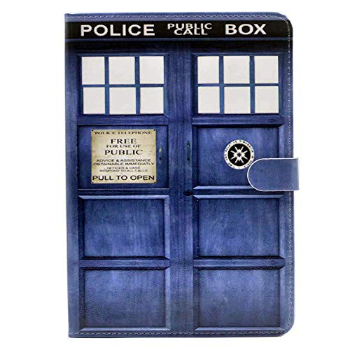 iPad Mini 5 Case 2019 (5th Generation), Doctor Who Tardis Pattern Leather Flip Stand Case Cover for iPad Mini 5,2019 7.9-inch (Dr Who Ipad Mini Case)
