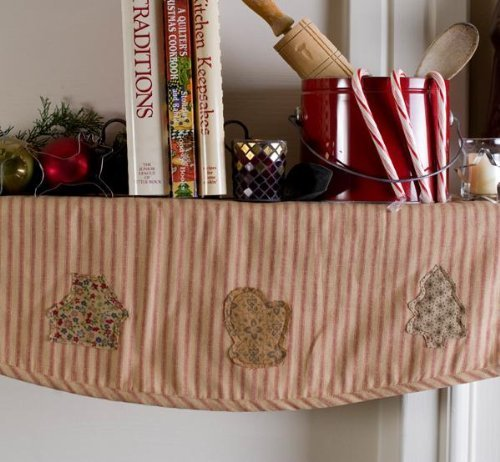 Reversible Stripe Scarf (VHC Brands Cookie Cutter Mantel Scarf 14x72)