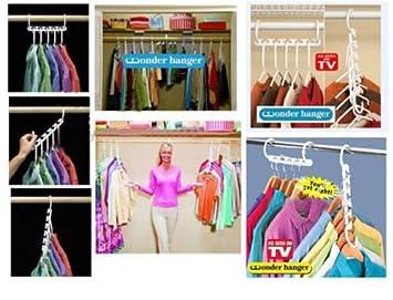 Hot Sale Space Saver Wonder Magic Clothes Hangers Closet Organizer Hooks  Racks