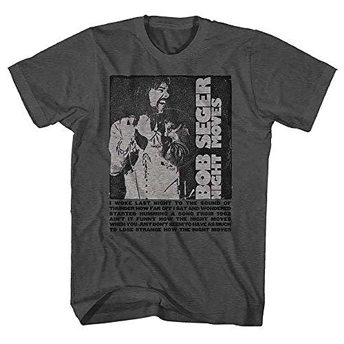Bob Seger Night Moves Men's Gray T-Shirt (XL) Bob Seger T-shirt