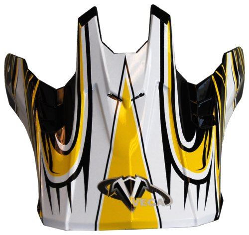Vega NBX-Pro Off-Road Helmet Visor with  Scorch Graphic  (Yellow, Size Adult)