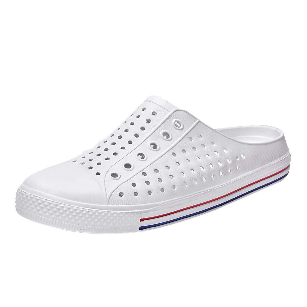 AOJIAN Shoes Womens Sandals Summer Casual Breathable Antiskid Beach Flip Flop Slide Slipper Clog Mule White