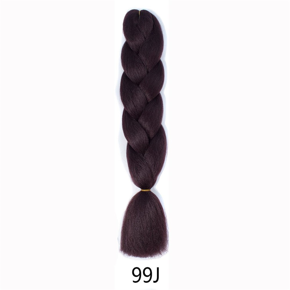 Colmkley Handmade Synthetic Dreadlocks, 24 inch single Ended Hair Extensions, Braiding Hair Dreads, Unisex Cosplay Party Disco