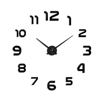 PHM WCLT Nuevo reloj Reloj de pared Relojes de pared DIY acrílico Espejo decoración para el