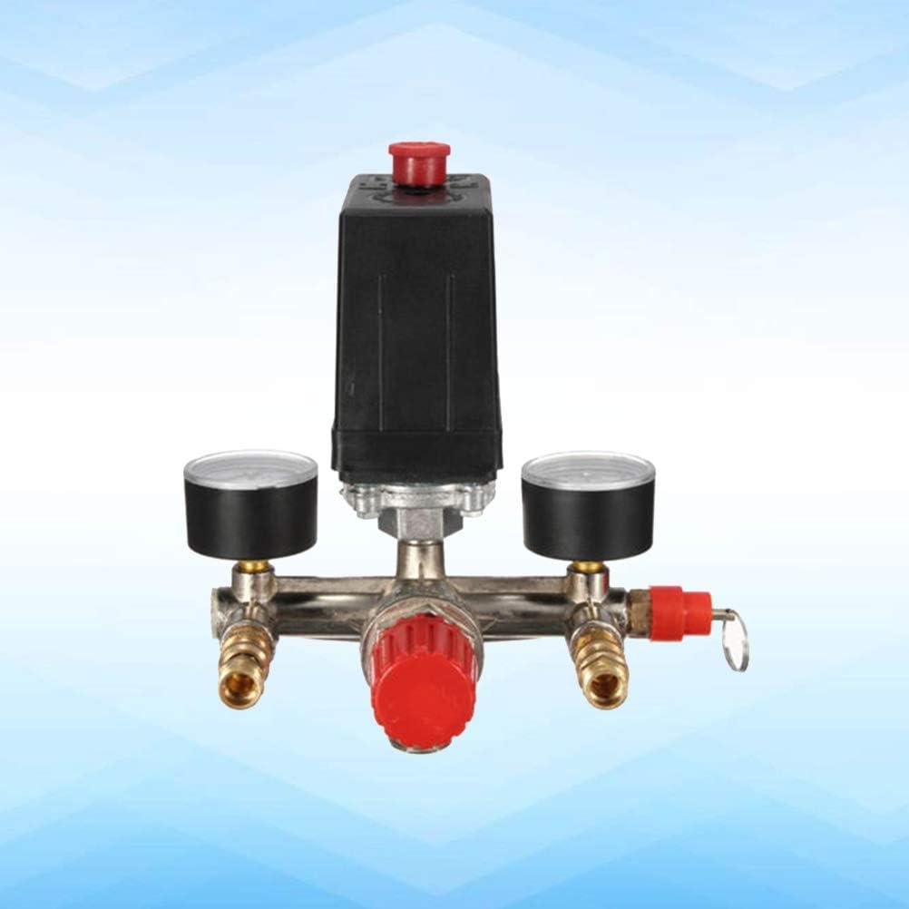 LIOOBO R/égulateur de Pression de Pompe de compresseur dair 175psi avec r/égulateur de manom/ètres