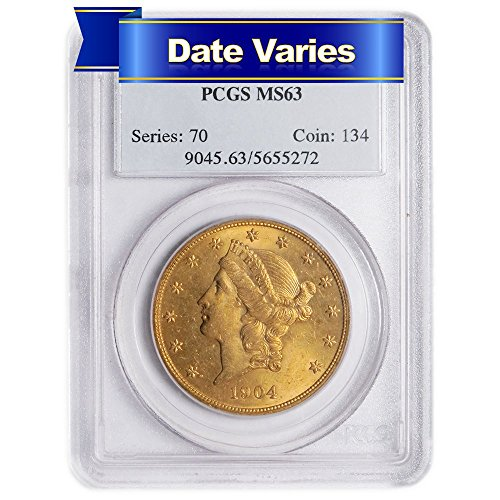 Head Double Eagle Gold Coin - $20 Liberty Head Gold Double Eagle (Random Year) $20 MS63 PCGS