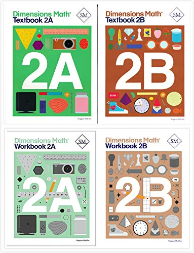 Dimensions Math Level 2 Kit (4 Books) -- Textbooks 2A and 2B, and Workbooks 2A and ()