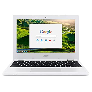 Acer Chromebook CB3-131-C3SZ 11.6 Laptop (Intel Celeron N2840 Dual-Core Processor,2 GB RAM,16 GB Solid State Drive,Chrome), White