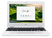 Acer Chromebook CB3-131-C3SZ 11.6-Inch Laptop (Intel Celeron N2840 Dual-Core Processor,2 GB RAM,16 GB Solid State Drive,Chrome), White