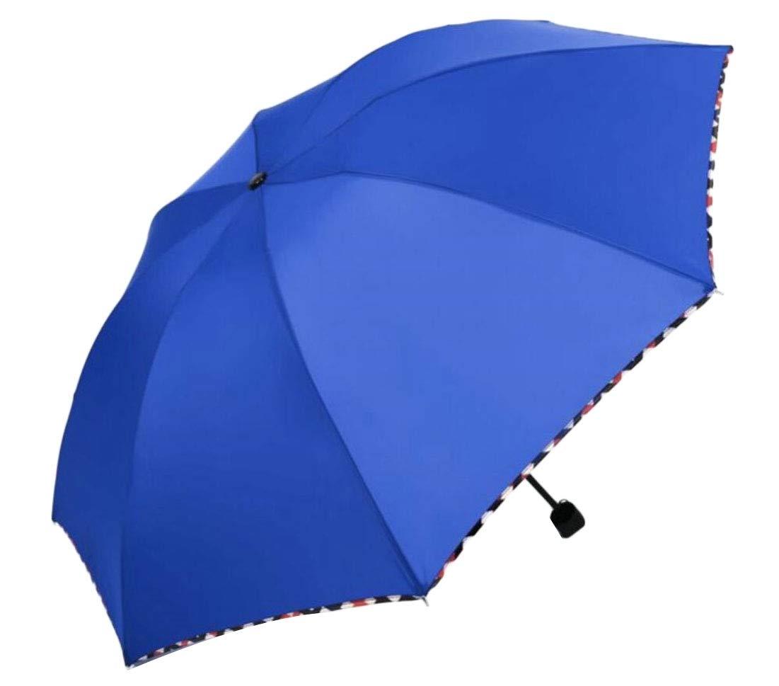 ouxiuli Waterproof Windproof Lightweight Compact Umbrella, Travel Umbrellas Blue OS