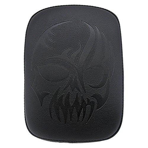 Seamong Rear Passenger Pad Cushion Rectangylar Leatherr Pillion Seat 8 Suction Cup For Harley Custom Chopper - Chopper Biker Custom