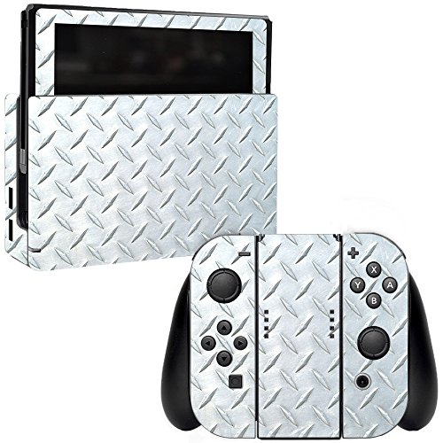 MightySkins Skin Compatible with Nintendo Switch - Diamond Plate | Protective, Durable, and Unique Vinyl Decal wrap Cover | Easy to Apply, Remove, and Change Styles | Made in The USA