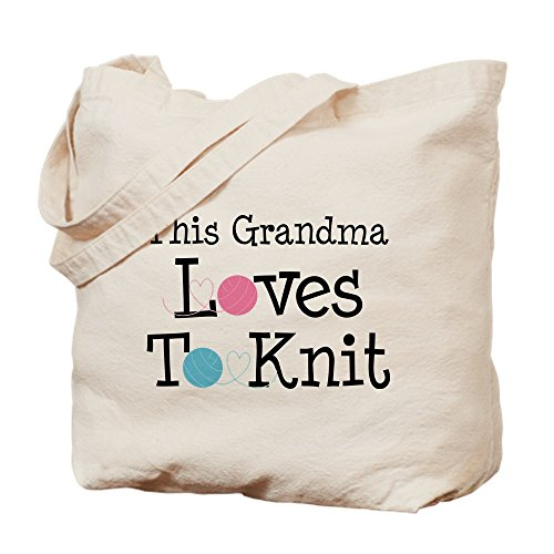 Tote Shopping CafePress Loves Natural Bag Canvas Cloth Bag Grandma Knitting FUWRwxv4