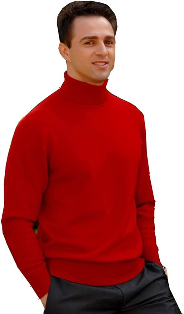 MENS ROLL NECK SOFT COTTON LONG-SLEEVE TOPS Colours Ref:1251