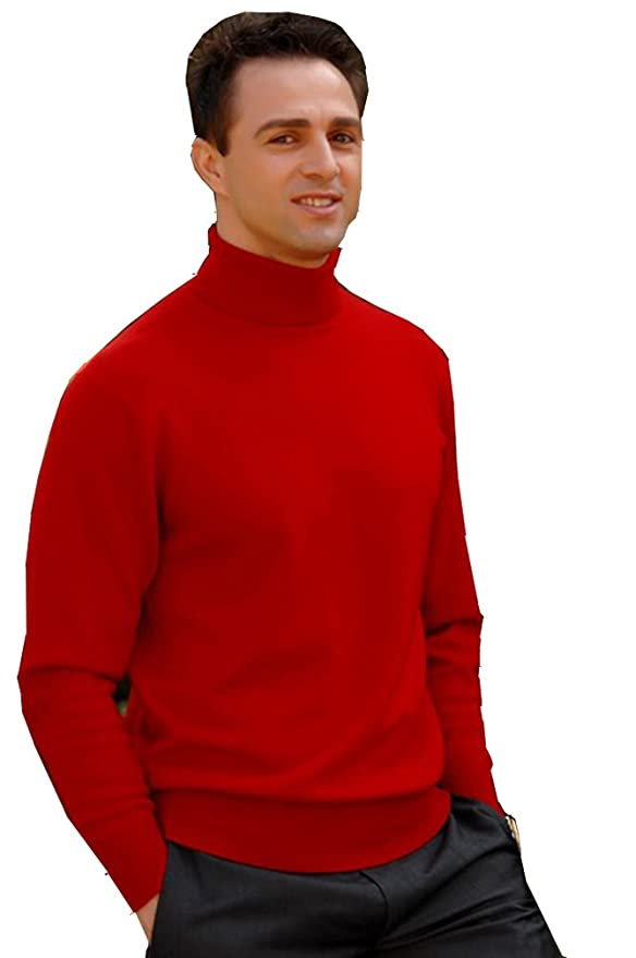 ELEGANCE1234 (Men's Roll Neck) Ref:1251 (moyenne(medium), blanc(white))