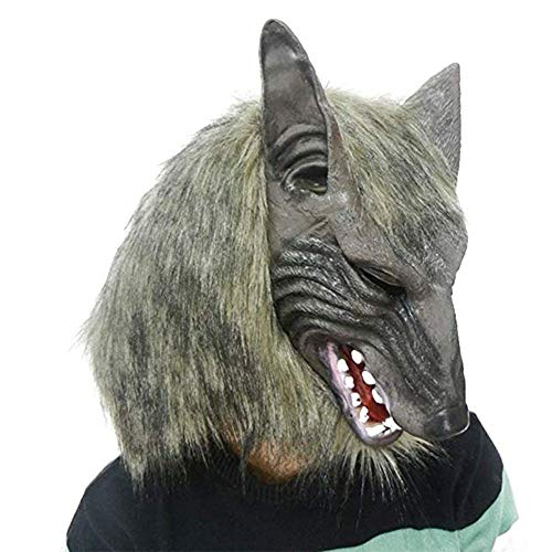 Lixinfushi Máscara De Halloween, Fiesta Realidad Hombre Lobo ...