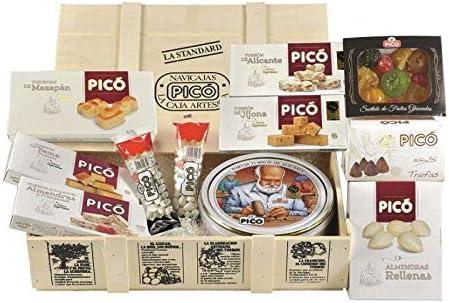 Navicaja La Standard, pack surtido de turrones envasados en caja de madera: Amazon.es: Alimentación y bebidas