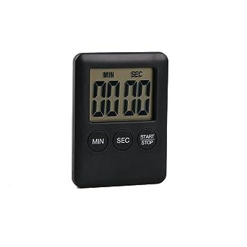 PAOLIAN Timer Digital Reminder Alarm LCD Reloj de cocina Cocina Large Cuenta atrás (Negro)