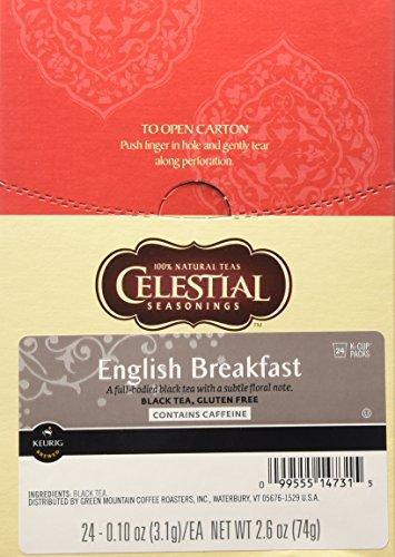 Celestial Seasonings, English Breakfast Black Tea, K-Cup Portion Pack for Keurig K-Cup Brewers (Pack of 24) (Breakfast English Seasonings Celestial)