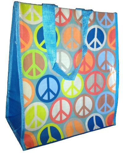 Peace Wrap - Gift Wrap Company Peace Out Reusable Tote/Grocery Bag