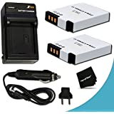 2 High Capacity Replacement Nikon EN-EL12 Batteries with AC/DC Quick Charger Kit for Nikon Coolpix AW130, AW120, S9500, S9300, S9100, S8200, S8100, S8000, S6300, S6200, S6150, S6100, S6000, S1000pj, S1100pj, S1200pj, AW100, AW110, S800c, S610, S610c, S620, S630, S640, S70, S31, S710, P310, P330, P300 Digital Cameras