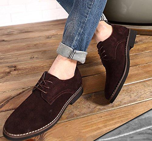 scamosciato 48 Uomo Inghilterra casuale Uomini Marrone Dimensione Extra particolarmente Bebete5858 stile Grande scarpe Pelle PU Bwq0FcR