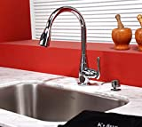 Pull Out Kitchen Faucet Kraus KPF-2230-KSD-30ORB Single Lever Pull Out Kitchen Faucet and Soap Dispenser Oil Rubbed Bronze