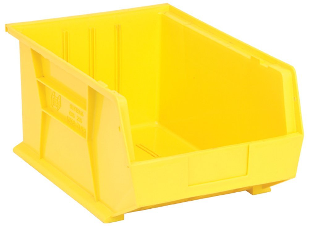 Quantum Storage Systems Hang/Stack Bin, 16L X 11W, Yellow by Quantum Storage Systems