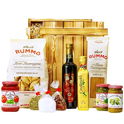 Geschenkset Pisa | Großer Italien Geschenkkorb mit Pasta, Feinkost & italienische Spezialitäten | Delikatessen…