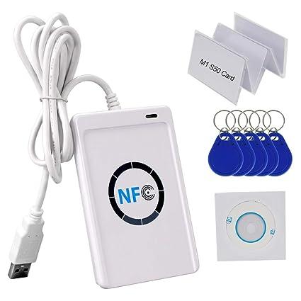 HFeng 13,56 MHz RFID Lector de Tarjetas de Copiador de ...