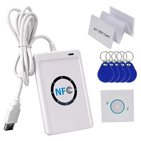 Amazon.com: HFeng 13,56 MHz RFID copiadora lector de ...