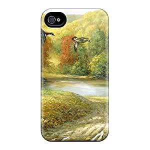 ConnieJCole Scratch-free Phone Case For Iphone 4/4s- Retail Packaging - Forest Mural