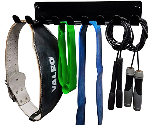 Multi Purpose Jump Rope Hanger / HEAVY DUTY Exercise Band Storage/ Rack / Gym Storage / Weight Lifting/Dip Belt Rack