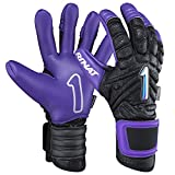 Rinat The Boss Pro Goalkeeper Glove (Free Customization) (Black/Purple, 11)