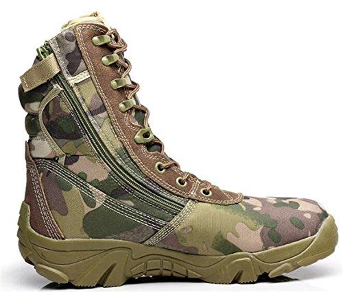 Suède Combat Chaussures Homme Bottes Camo top De Imperméable Outdoor Tactical Randonnée Vert Armée Trail High Chasse Mileeo 0pqtA