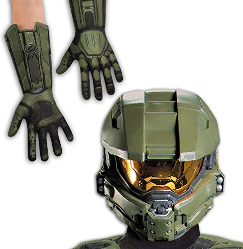 Halo: Master Chief Adult Costume Full Helmet and Gloves Bundle