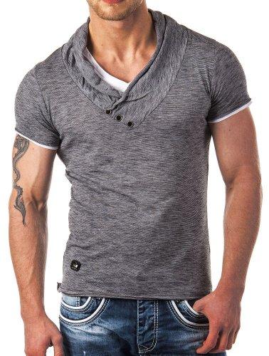 Redbridge by Cipo & Baxx Herren Shirt R-4T1223 anthrazit L
