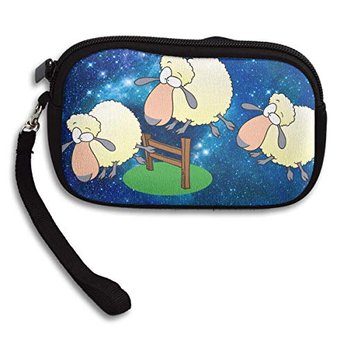 Sheep Jumping Over Fence Clipart Deluxe Printing Small Purse Portable Receiving Bag
