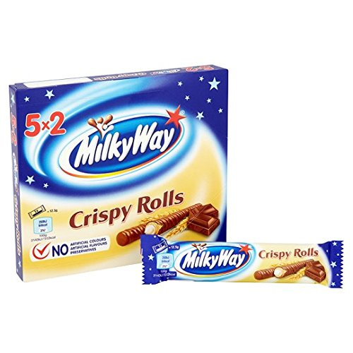 Original Mars Milky Way Crispy Rolls Imported From The UK England (Milky Bar Way Candy)
