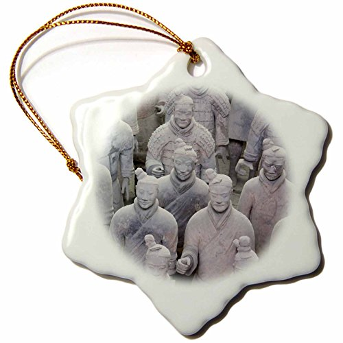 Ornament China Snowflake (3dRose orn_164770_1 Army of The Terracotta Warriors, Xian, China Photo by Rhonda Albom-Snowflake Ornament, Porcelain, 3-Inch)