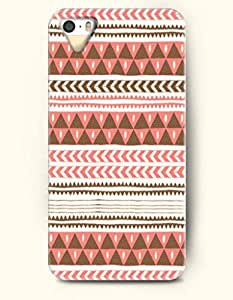 OOFIT Aztec Indian Chevron Zigzag Native American Pattern Hard Case for Apple iPhone 5 5S ( iPhone 5C Excluded ) ( Retro Pink Aztec Tribal Pattern )